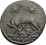 CONSTANTINE I Romulus Remus Twins She-Wolf Rome Commemorative Roman Coin i57395