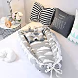 Ukeler Cotton Portable Travel Infant Bed,Crib,Bassinet, Baby Nest for Baby Lounger, Infant Lounger, Newborn Lounger: Breathable, Hypoallergenic-Perfect for Co-Sleeping