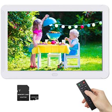 1920x1080-8-Inch-Digital-Picture-Frame-169-IPS-Screen-Photo-Auto-Rotate-Auto-Turn-OnOff-HD-Video-Frame-Calendar-Alarm-Clock-Background-Music-Remote-Control-Include-32GB-SD-Card