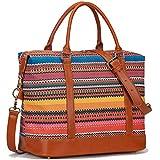 CAMTOP Women Ladies Weekender Travel Bag Canvas Overnight Carry-on Duffel Tote Luggage (Bohemia)