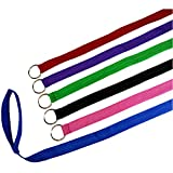 Downtown Pet Supply 6 Foot Slip Lead, Slip Leads, Kennel Leads with O Ring for Dog Pet Animal Control Grooming, Shelter, Rescues, Vet, Veterinarian, Doggy Daycare (12 Pack, Colors: Various)
