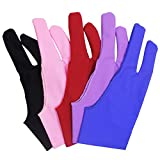 SENHAI 5 PCS Artist Glove for Drawing Tablets Anti-fouling, 5 Colors Free Size Gloves for Graphics Tablet Left or Right Hand- Blue, Pink, Black, Purple, Red