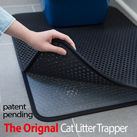 iPrimio-Large-Cat-Litter-Trapper-Mat-Exclusive-UrineWaterproof-Layer-Larger-Holes-Urine-Puppy-Pad-Option-Messy-Cats-Soft-on-Paws-Light