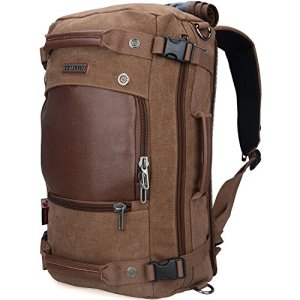 WITZMAN Men Travel Backpack Canvas Rucksack Vintage Duffel Bag A2021 (21 inch Brown) 3 Fashion Online Shop 🆓 Gifts for her Gifts for him womens full figure
