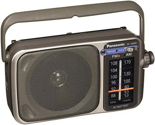 Panasonic RF-2400D AM/FM Radio, Silver