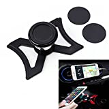 XBERSTAR Phone Holder Car Air Vent Outlet Mount 360-Degree Rotary Swivel Cell Phone Magnetic Cradle for Audi A3 / S3 (Black)