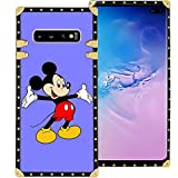 DISNEY COLLECTION Purple Mickey Phone Case for Samsung Galaxy S10+ (2019) [6.4in] Shockproof and Protective Phone Cover with Classical Style