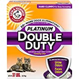 ARM & HAMMER Platinum Double Duty Clumping Cat Litter, 37lb