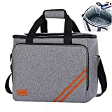 HANIC 30L Large Cooler Bag Soft Cooler Insulated Leakproof Collapsible Soft Sided Coolers Cooler Bags Travel Bag for Outdoor Travelling Long Shifts Work Hiking Beach Picnic Camping BBQ Party(40-Can)