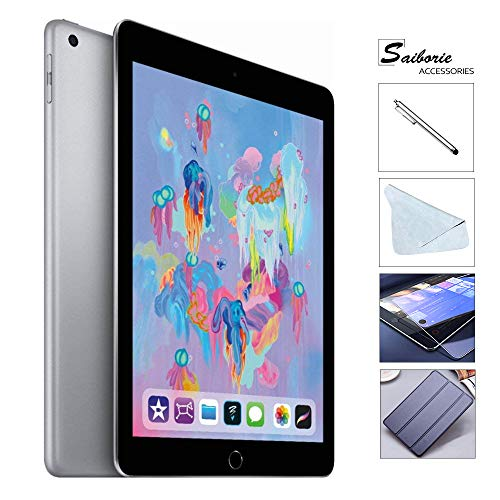 Apple iPad 6th Gen 128GB (2018 Model) with Saiborie 49