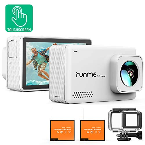 Runme R3 4K Action Camera Touch Screen 16MP Adjustable Wide Angle...