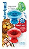 Steripod Kids Toothbrush Protector (2-Pack Red & Blue Glitter Pods)