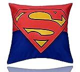 REINDEAR 18'' X 18'' Comics Superhero Cotton Linen Decorative Pillow Cover Cushion Case US Seller (Superman)