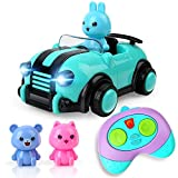 Beebeerun Car Toys for 3 4 5 Year Old Boys Girls,Cartoon R/C Race Car Remote Control Car with Music, for Kids Children