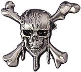 Disney Pin de Solapa de Peltre con diseño de Piratas del Caribe de, diseño de Calavera y Cruz