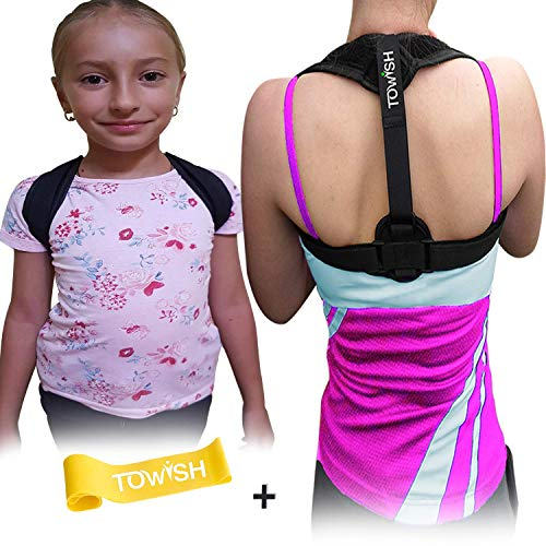 Posture Corrector for Women and Kids Posture Trainer - Best Fully Adjustable Posture Brace - Relief Upper Back Pain - Improve Posture & Correct Hunching - Provides Back, Shoulder and Clavicle Support