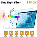 2PC 15.6 in Anti Blue Light Laptop Screen Protector, Anti Glare Filter Film Eye Protection Blue Light Blocking Screen Protector for 15.6' Display 16:9