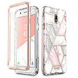 i-Blason Case Designed for Galaxy J7 2018, Cosmo Series Built-in Screen Protector Full-Body Glitter Bling Bumper Protective Case for Galaxy J7 (SM-J737), Not fit J7 2017 (SM-J727) (Marble)