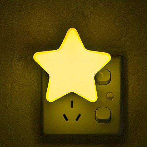 fibgihc Control de luz LED de emergencia luz de noche lindo abs lámpara de recámara de niños de...