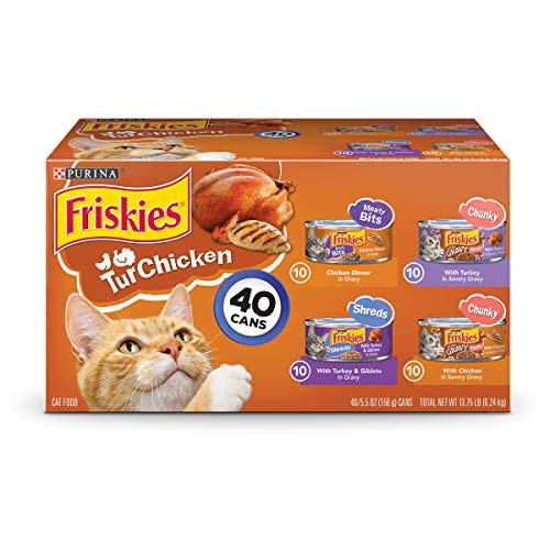 Purina Friskies Canned Wet Cat Food 40 ct. Variety Packs