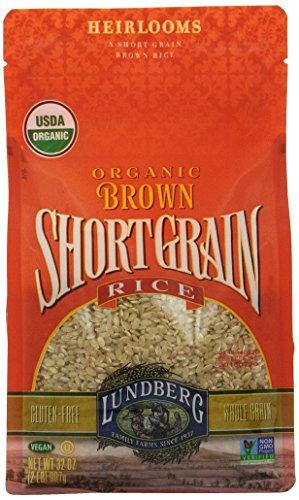 Lundberg Brown Short Grain Rice, 32 Ounce (Pack of 6), Organic