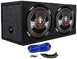 2) Boss P126DVC 12' 4600W Car Power Subwoofers + Dual Sealed Sub Box Enclosure