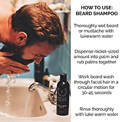 ZEUS Beard Shampoo and Wash for Men - 8oz - Beard Wash with Natural Ingredients (Scent: Verbena Lime)  Image 4