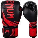 Venum Challenger 3.0 Boxing Gloves - 16oz, Black/Red, 16 oz