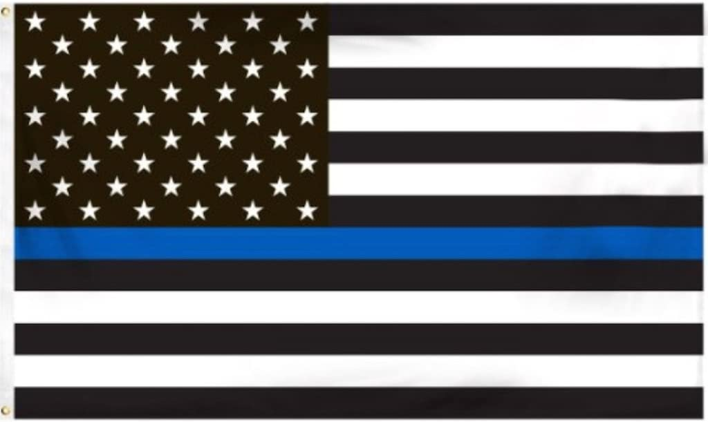 Amazon.com : Thin Blue Line American Flag - 3 by 5 Foot Flag Honoring our  Men and Women of Law Enforcement- Black, White, and Blue with Brass  Grommets : Garden & Outdoor