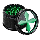 Quality Aluminium Herb Grinder By Fengli, 2.5'' Large 4-part Spice Herb Grinder with Pollen Screen,Green
