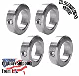1' Bore Stainless Steel Shaft Collars Set Screw Style (4 PCS)