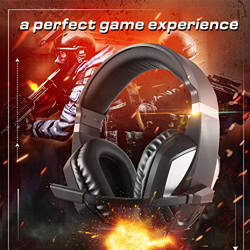 Etpark Stereo Gaming Headset for Xbox one PS4,3.5mm Wired Over-Head Stereo Gaming Headset Headphone with Mic Microphone, Volume Control for PS4 PC Tablet Laptop Smartphone Xbox One Nintendo Switch