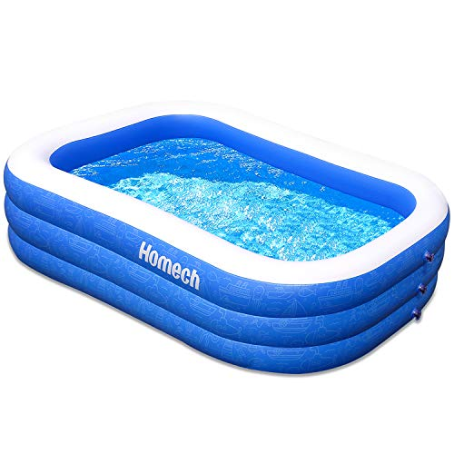 Homech-Family-Inflatable-Swimming-Pool-120-X-72-X-22-Full-Sized-Inflatable-Lounge-Pool-for-Baby-Kiddie-Kids-Adult-Infant-Toddlers-for-Ages-3Outdoor-Garden-Backyard-Summer-Water-Party