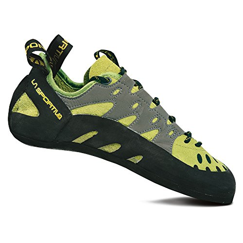 La Sportiva Men's TarantuLace Performance Rock Climbing Shoe, Kiwi/Grey, 43.5 M EU