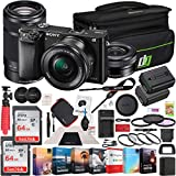 Sony Alpha a6000 Mirrorless Digital Camera 2 Lens 16-50mm & 55-210mm Lens (Black) ILCE-6000Y/B with 128GB Memory Deco Gear Case Filter Kit Charger & Extra Battery Power Editing Bundle