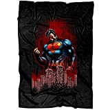 "UTAMUGS Cool Superman Soft Fleece Throw Blanket, Superman Superhero Fleece Luxury Blanket (Large Blanket (80""x60""))"