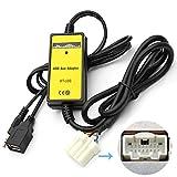 Moonet Car Usb/SD Mp3 Player Interface AUX in Adapter Connect Blackberry Compatible for Mazda 3 5 6 323 Miata Mazdaspd Protege Mx5 MPV Rx8 B-Series Pickup CX7 Miata Tribute