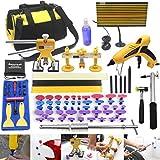 Anyyion 92pcs Paintless Dent Repair Kits, Auto Dent Puller Kit Car Body Dent Repair Tools Car Body Repair Kit Automotive Door Ding Dent Silde Hammer Glue Puller Repair Starter Set Kits