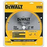 DEWALT DW3128 Series 20 12-Inch 80 Tooth ATB Thin Kerf Crosscutting Miter Saw Blade with 1-Inch Arbor