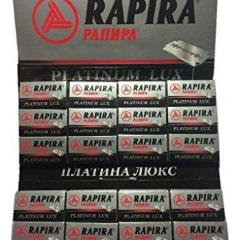 100 Rapira Platinum Lux Razor Blades