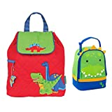 Stephen Joseph Boys Quilted Dinosaur Backpack and Dinosaur Lunch Pal Combo