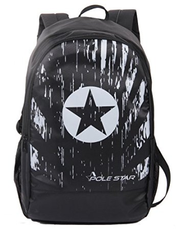 Polyester Black Backpack with Laptop Compartment