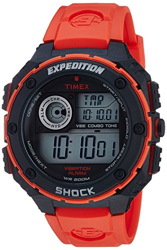 Timex Men's T499849J Expedition Digital Display Quartz Red Watch