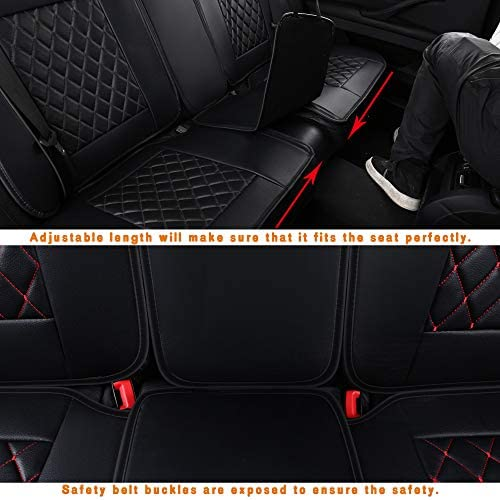 LUCKYMAN CLUB Car Seat Covers Fit Most Sedan SUV Truck - Fit for Corolla Camry Tacoma RAV4(Black 15