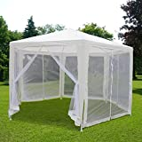 Quictent 6.6'x6.6'x6.6' Outdoor Hexagonal Canopy Party Wedding Tent W/Nettings