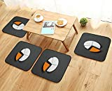 UHOO2018 Universal Chair Cushions Pie Chart Isolated on Grey one Part of Diagram is Yellow copyspace Personalized Durable W15.5 x L15.5/4PCS Set