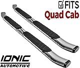 Ionic 5' Railway Chrome Running Boards 2009-2014 Dodge Ram Quad Cab