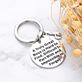 Boss Keychain Appreciation Gifts for Boss Thank You Keychain for Women Men Mentor Retirement Leaving Gift from Staff Coworker Colleague Farewell Christmas Birthday Gift for Supervisor Leader