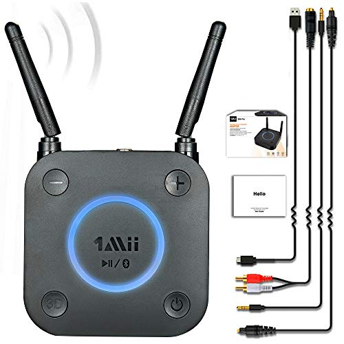 Upgraded-1Mii-B06Pro-Long-Range-Bluetooth-Receiver-HiFi-Wireless-Audio-Adapter-Bluetooth-50-Receiver-with-3D-Surround-aptX-Low-Latency-Optical-RCA-AUX-35mm-Coaxial-for-Home-Stereo-System