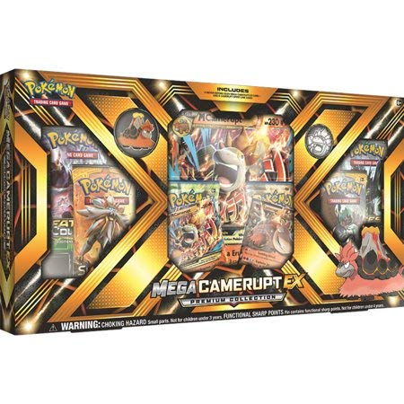 Pokemon TCG: Premium Collection Box, Either Mega Camerupt-EX or Mega Sharpedo-EX